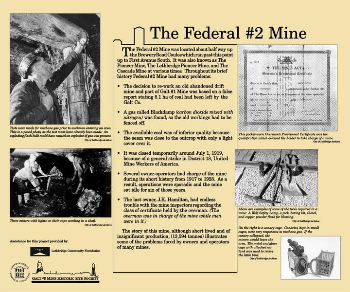 Federal #2 Mine: 1917 1928