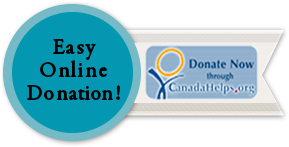 If you want to make an online donation right now you can make it online through CanadaHelps.org.